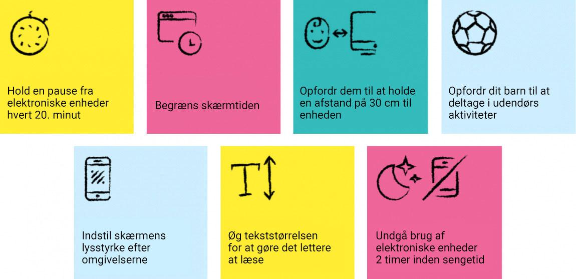 Diagram showing tips on children's vision